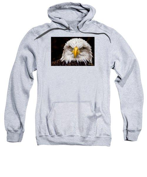 Defiant And Resolute - Bald Eagle Sweatshirt by Rikk Flohr