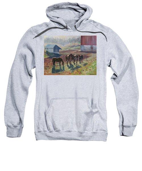 Early December At The Farm Sweatshirt