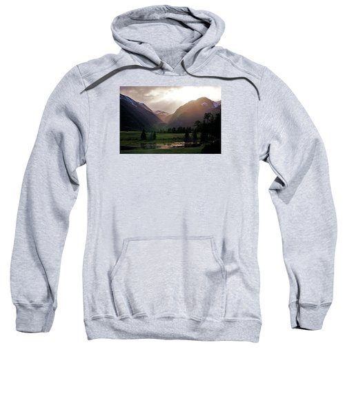 Early Evening Light In The Valley Sweatshirt