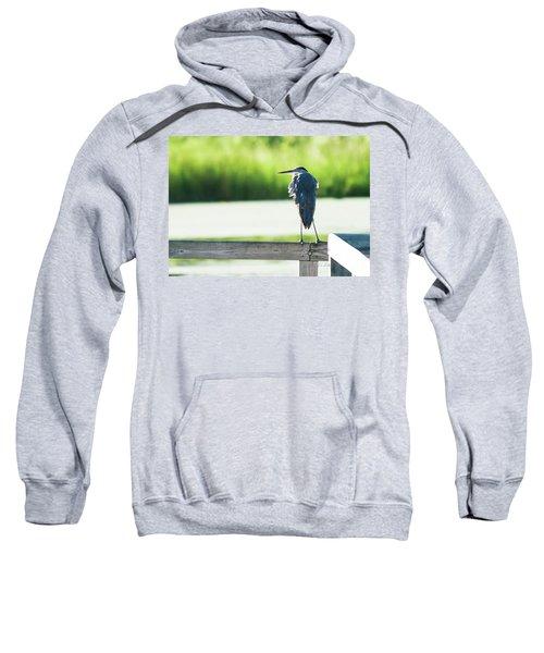 Early Morning Great Blue Heron Sweatshirt