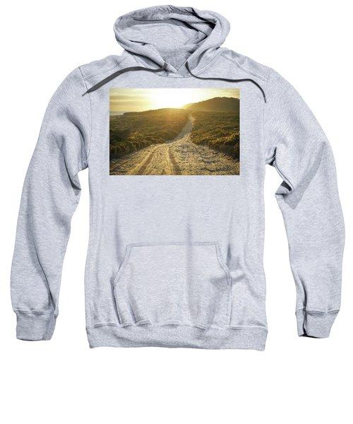 Early Morning Light On 4wd Sand Track Sweatshirt