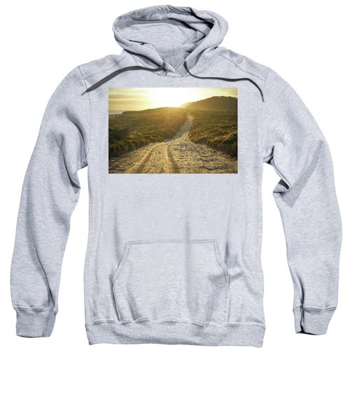 Early Morning Light On 4wd Sand Track Sweatshirt