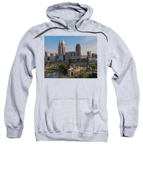 Early Morning Transport On The Cuyahoga River Sweatshirt