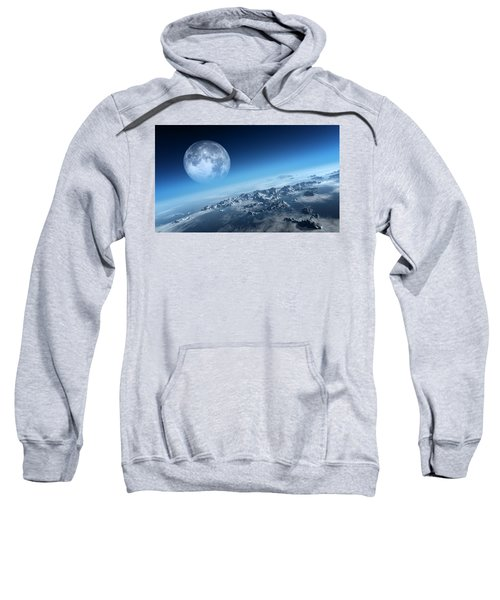 Earth Icy Ocean Aerial View Sweatshirt