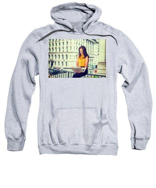 East Indian American Businesswoman In New York Sweatshirt