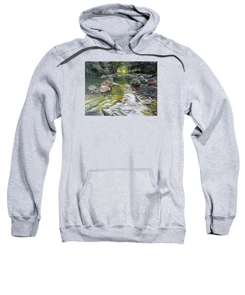 Sweatshirt featuring the painting East Okement River by Lawrence Dyer