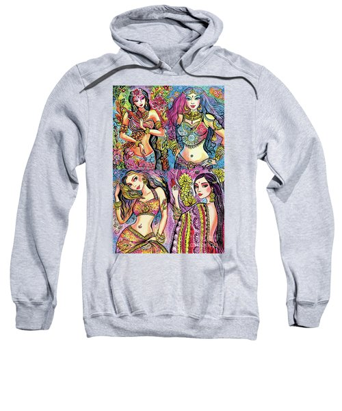 Sweatshirt featuring the painting Eastern Flower by Eva Campbell