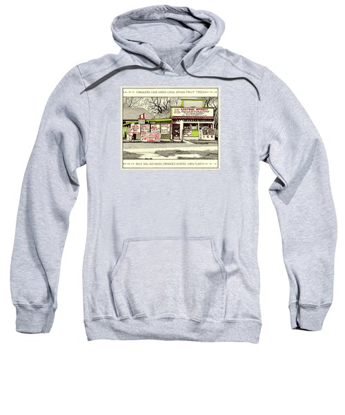 Sweatshirt featuring the painting Eastside Market by Chholing Taha