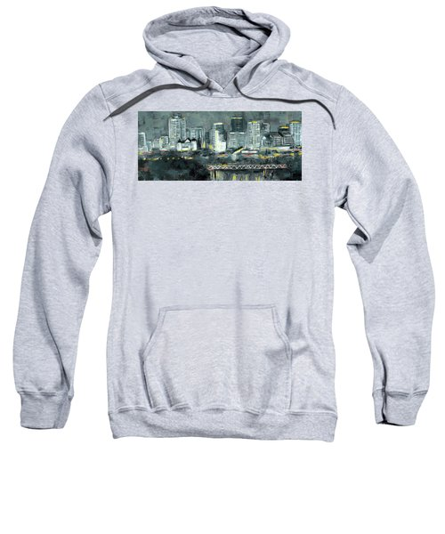 Edmonton Cityscape Painting Sweatshirt