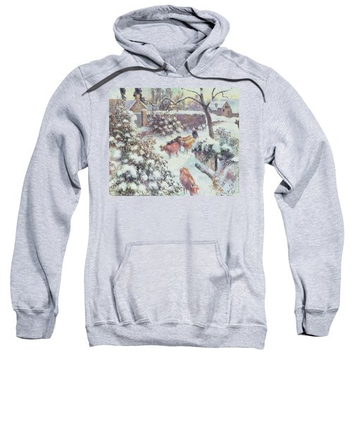 Effect Of Snow At Montfoucault Sweatshirt