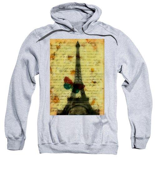 Eiffel Tower Memory Encaustic Sweatshirt by Bellesouth Studio