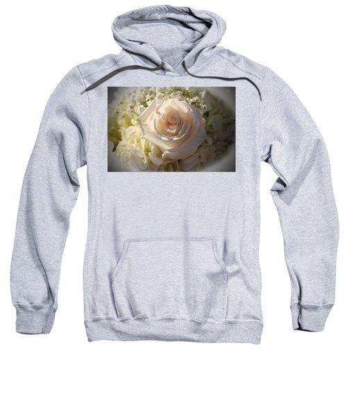 Elegant White Roses Sweatshirt