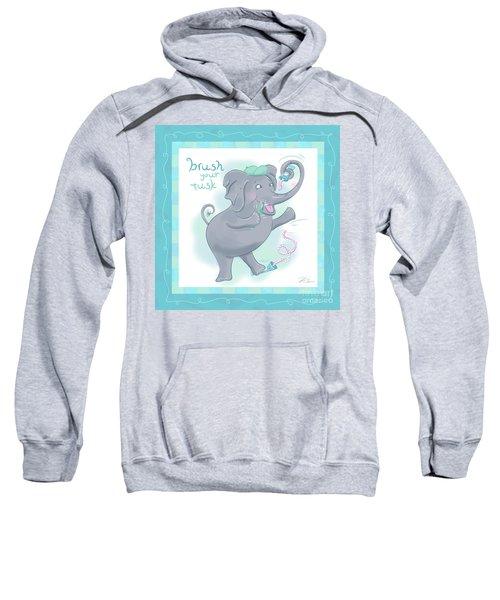 Elephant Bath Time Brush Your Tusk Sweatshirt