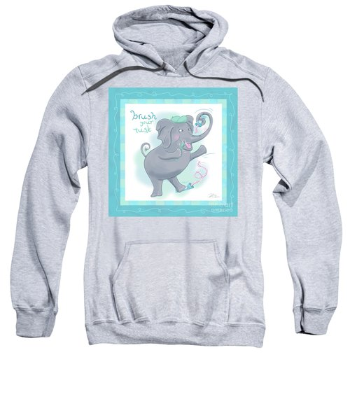 Elephant Bath Time Brush Your Tusk Sweatshirt