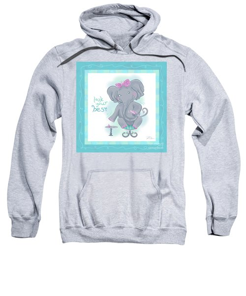 Elephant Bath Time Look Your Best Sweatshirt