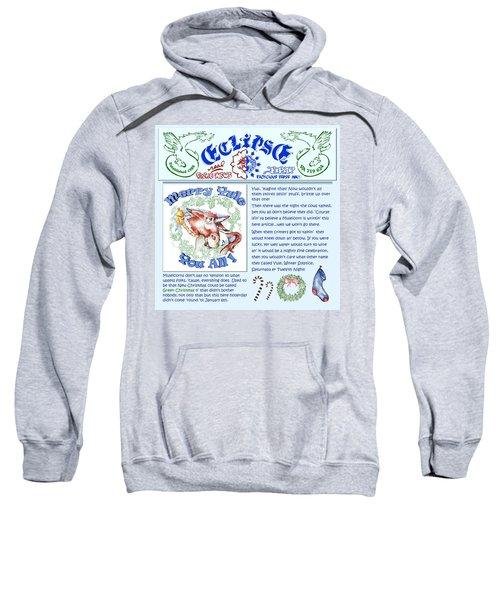 Real Fake News Merry Yule Column Sweatshirt