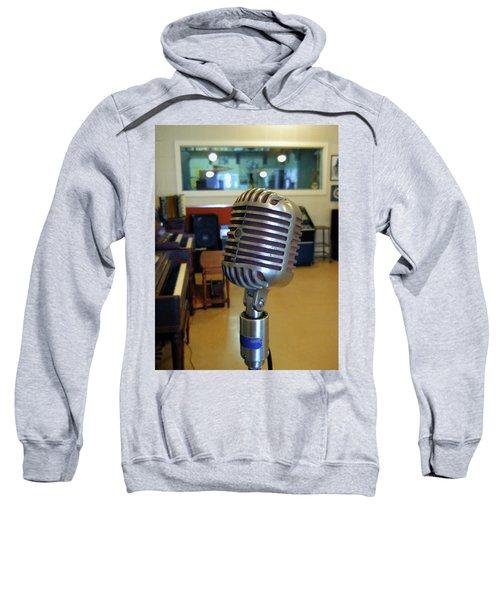 Sweatshirt featuring the photograph Elvis Presley Microphone by Mark Czerniec