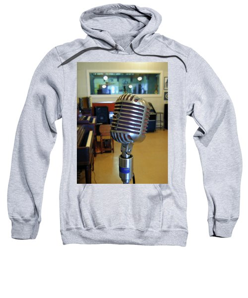 Sweatshirt featuring the photograph Elvis Presley Microphone by Mark Czerniec