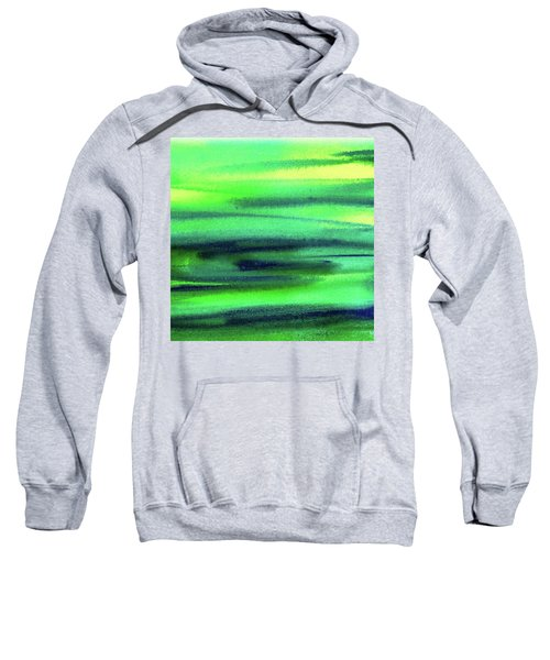 Emerald Flow Abstract Painting Sweatshirt