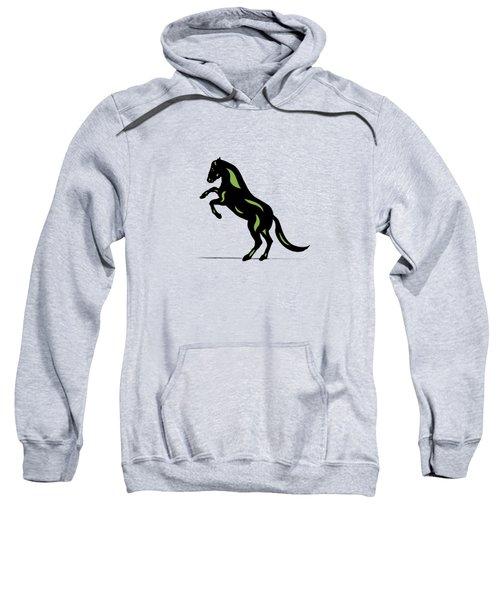 Emma - Pop Art Horse - Black, Greenery, Island Paradise Blue Sweatshirt