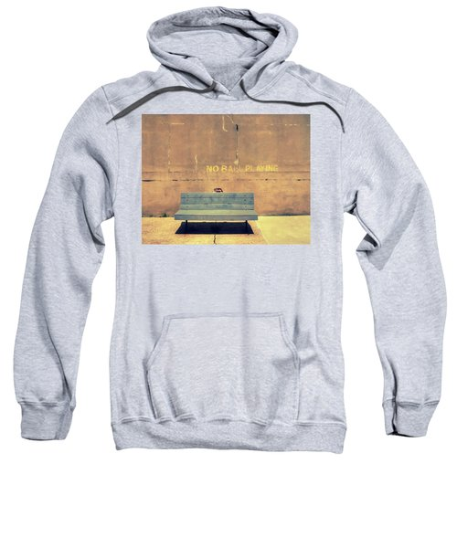 Empty Bench And Warning Sweatshirt