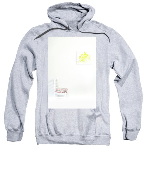 Empty Chair With Yellow Roses Sweatshirt