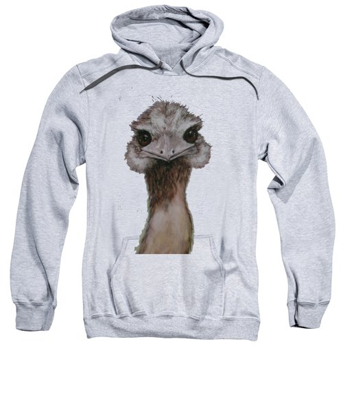 Emu Selfie Sweatshirt by Kathy Carothers