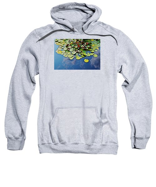 End Of July Water Lilies In The Clouds Sweatshirt