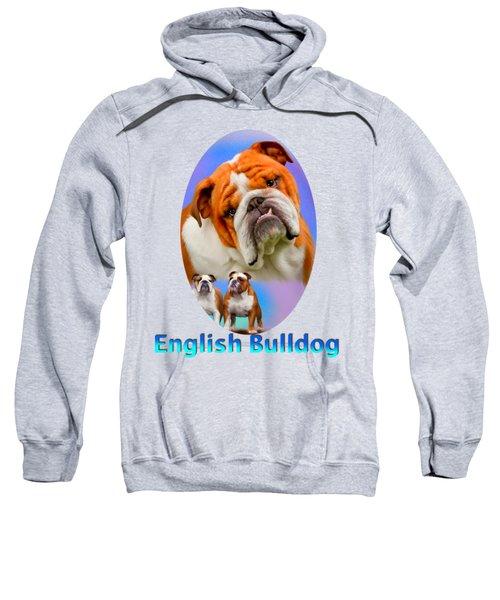 English Bulldog With Border Sweatshirt