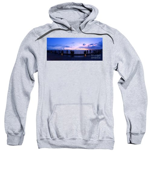 Enjoying The Beautiful Evening Sky Sweatshirt
