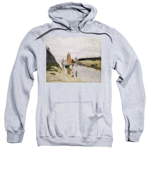 Entrance To The Port Of Trouville 1870 Sweatshirt