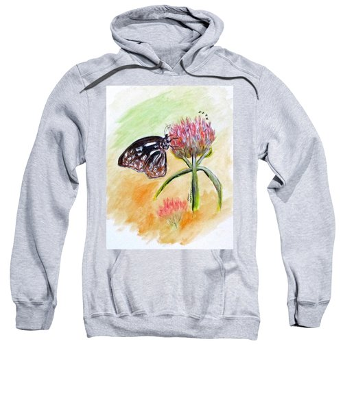 Erika's Butterfly Two Sweatshirt