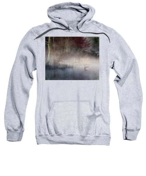 Sweatshirt featuring the photograph Ethereal Goose by Bill Wakeley