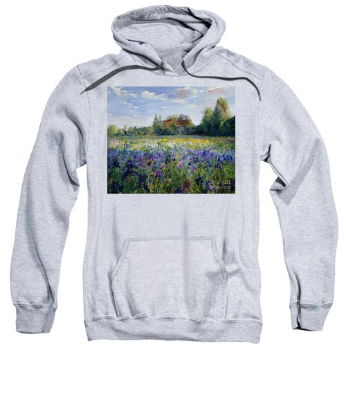 Evening At The Iris Field Sweatshirt
