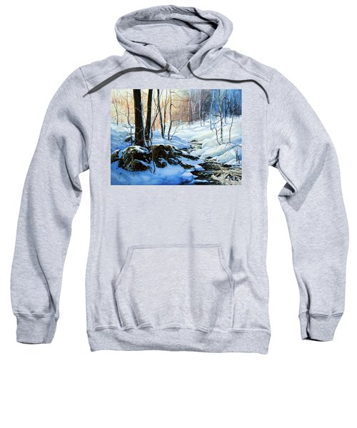 Sweatshirt featuring the painting Evening Shadows by Hanne Lore Koehler