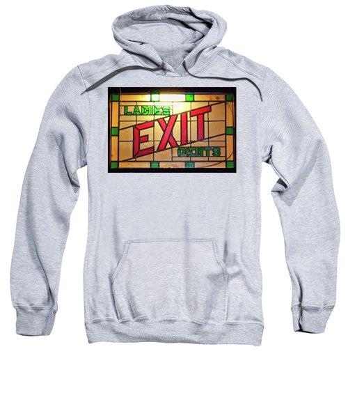 Exit - Ladies/gents Art Deco Sign Sweatshirt