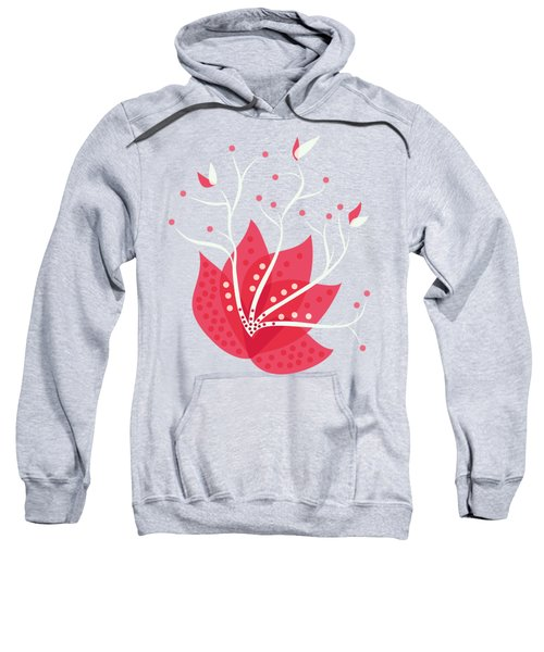 Exotic Pink Flower And Dots Sweatshirt