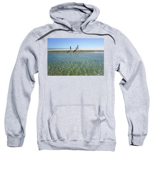 Exploring A Tidal Beach Lagoon Sweatshirt