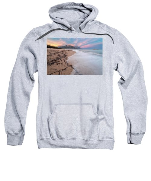 Explosion Of Colors On The Beach Sweatshirt