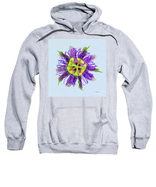 Expressive Yellow Green And Violet Passion Flower 50674b Sweatshirt