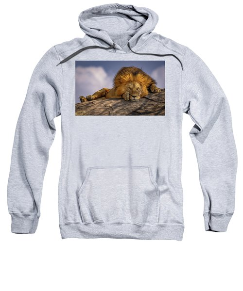 Eye Contact- Namiri Plains, Tanzania Sweatshirt