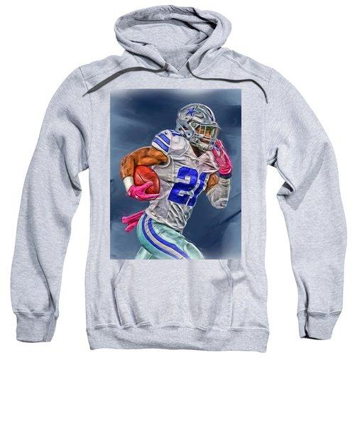 Ezekiel Elliott Dallas Cowboys Oil Painting 1 Sweatshirt