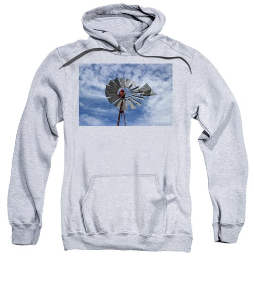 Sweatshirt featuring the photograph Facing Into The Breeze by Stephen Mitchell