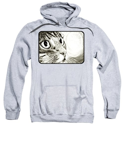 Fairy Light Tabby Cat Drawing Sweatshirt