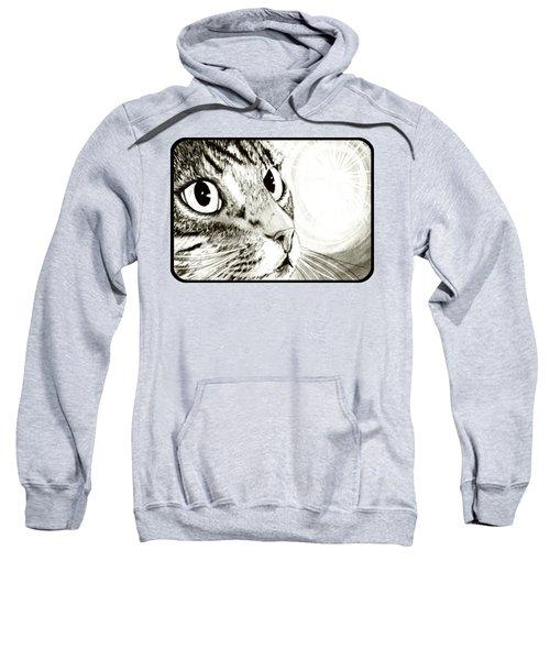 Fairy Light Tabby Cat Drawing Sweatshirt