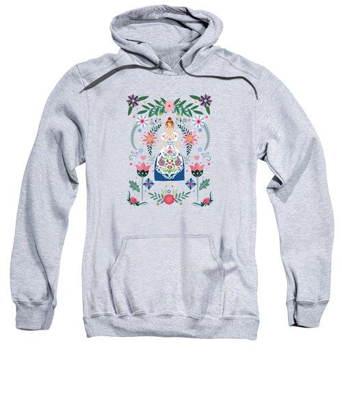 Fairy Tale Folk Art Garden Sweatshirt
