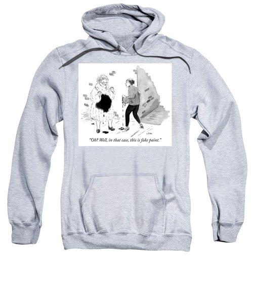 Fake Paint Sweatshirt