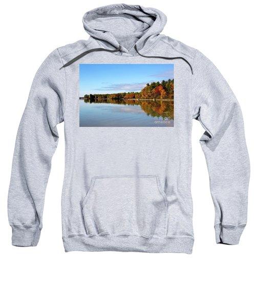 Fall Tree Reflections Lake Sabago Maine Sweatshirt