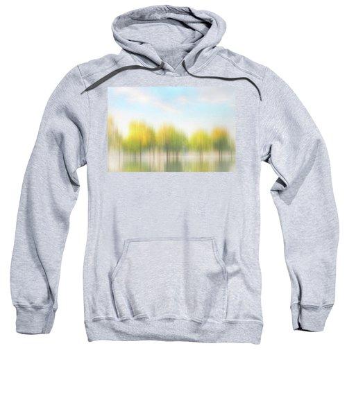 Fall Trees On Flooded Lake Sweatshirt