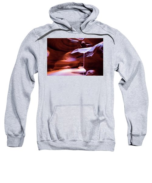 Sweatshirt featuring the photograph Falling Sand by Stephen Holst